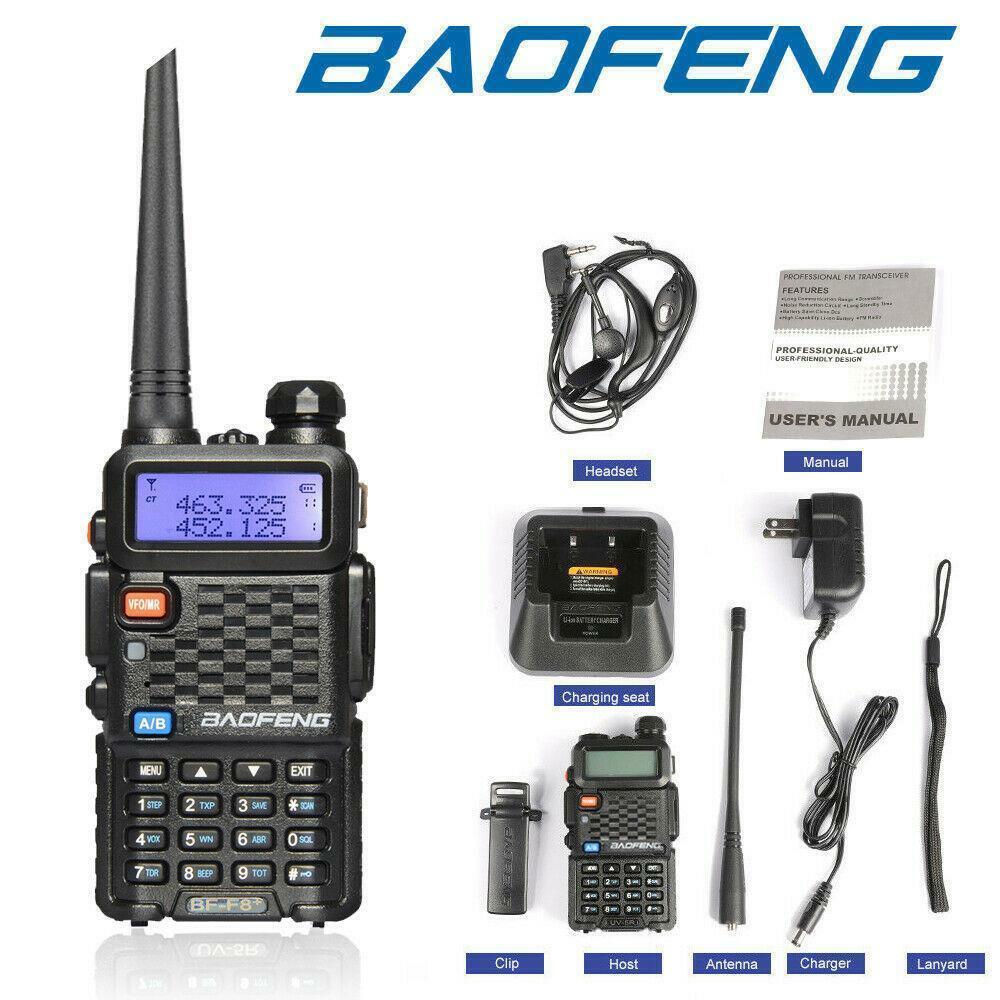 bytopok Baofeng BF-F8+ (UV-5R Upgrade) Two Way Radio Transceiver V/UHF Walkie Talkie Set