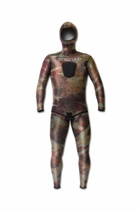 PoloSub SmoothSkin 3.5mm Open Cell Best Spearfishing Scuba  Camo Brown Wetsuit  online shopping sports