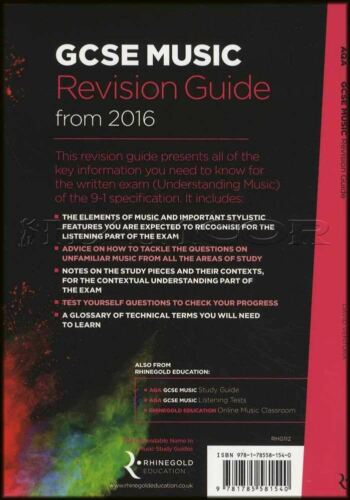 AQA GCSE Music Revision Guide from 2016 Sheet Music Book Theory Rhinegold