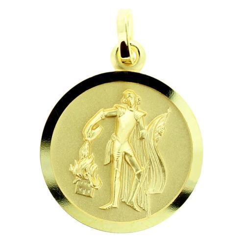Heiliger Florian Anhänger mit Name Datum Gravur Feuerwehr männer Echt Gold 585