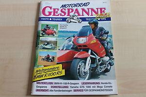 Yamaha Gts 1000 Mega Comete Bmw R 1100 R Gespanne 1993 Liberal 149876
