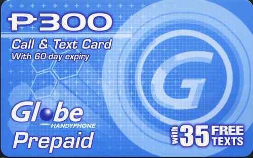 Globe Philippines Call & Text Card Prepaid Load 300