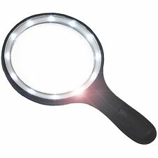 BRIGHT LED Magnifying Glass with Extra Large Lens and Bright LED Ring Light