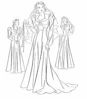 47 30's Wedding Gown With Cathedral Train And Evening Gown Pattern