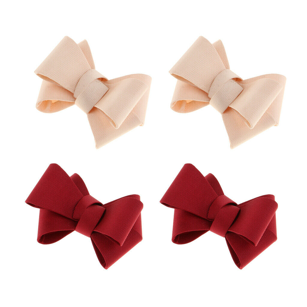 4 Pack Ribbon Shoe Clips DIY Prom Shoe Charms Buckle Accessories 2 Colors