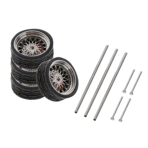 1//64 Skala Fahrzeug Räder Für Auto Modelle Auto Accs Erwachsene Spielzeug A9