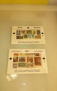Canadian-Stamps-mixed-envelopes-Art-amp-Birds-unopened-vintage-from-post-office
