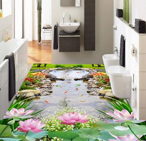 3D Piedra Estanque de césped 856 Impresión De Parojo Murales Papel de parojo de piso AJ Wallpaper Reino Unido Limón