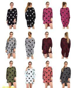 Femme Surdimensionné Lagenlook Ample Baggy Top Femmes Chauve-souris Manches T-shirt Plus Taille