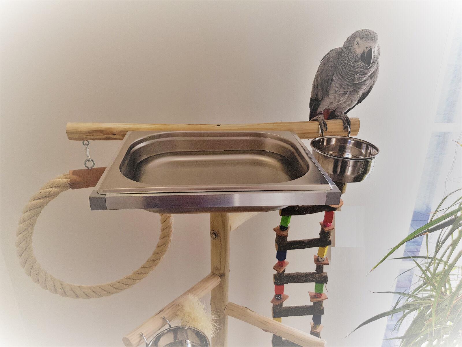 SEDILE liberamente in LEGNO PAPPAGALLI sede libero con ponte sospeso & vasca da bagno 1,40 NUOVO