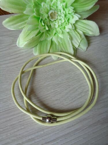 Leder Wickelarmbänder weinrot Zitronengelb 2 Varianten auswählbar