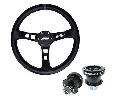 PRP Seats G111 Deep Dish Leather Steering Wheel Blue