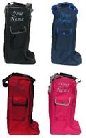 Personalised Embroidered Rhinegold Long Riding Boot Bag -horse Pony Show Leather
