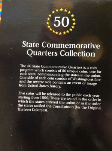 3 COIN FOLDER- 50 Commemorative State Quarters Collection 1999-2008 new
