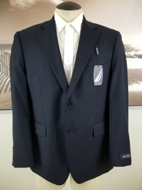 NAUTICA NWT Suit Separates Men 2 Button Jacket 38S Small Navy Wool Retails $280