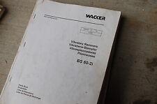 Wacker Bs 60 2i Vibratory Rammer Parts Manual Book List Catalog Jumping Jack