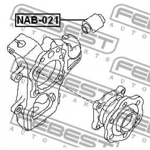 FEBEST Bush control arm mounting NAB-021