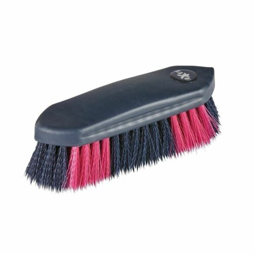 Saxon Two Tone Dandy Brush with Firm Nylon Bristles for Horse Grooming