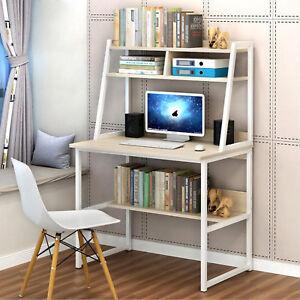 Study Office PC Desk Computer Table Steel Wood Laptop ...