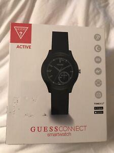 Détails sur Femme GUESS Connect Watch Fitness Tracker Silicone Smartwatch Noir Nouveau afficher le titre d'origine