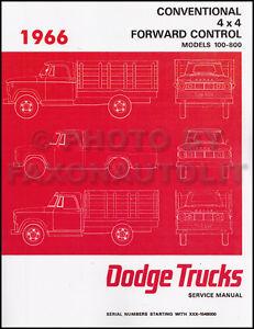1966 dodge truck shop manual 66 pickup power wagon d100 d800 w100 rh ebay com Dodge D150 1989 Dodge D100