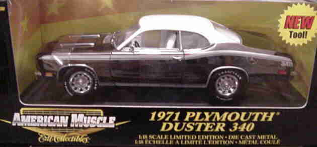 1971 Plymouth Duster Chrome Chase 1 1000 1 18 Ertl American Muscle 36673 G