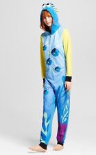 NEW Disney Finding Dory Hooded Non Footed Pajamas One Piece Nemo S / M LAST ONE