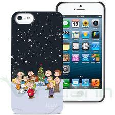 Custodia back cover rigida Xmas Peanuts iLuv pr Apple iPhone 5 5S SE case Natale