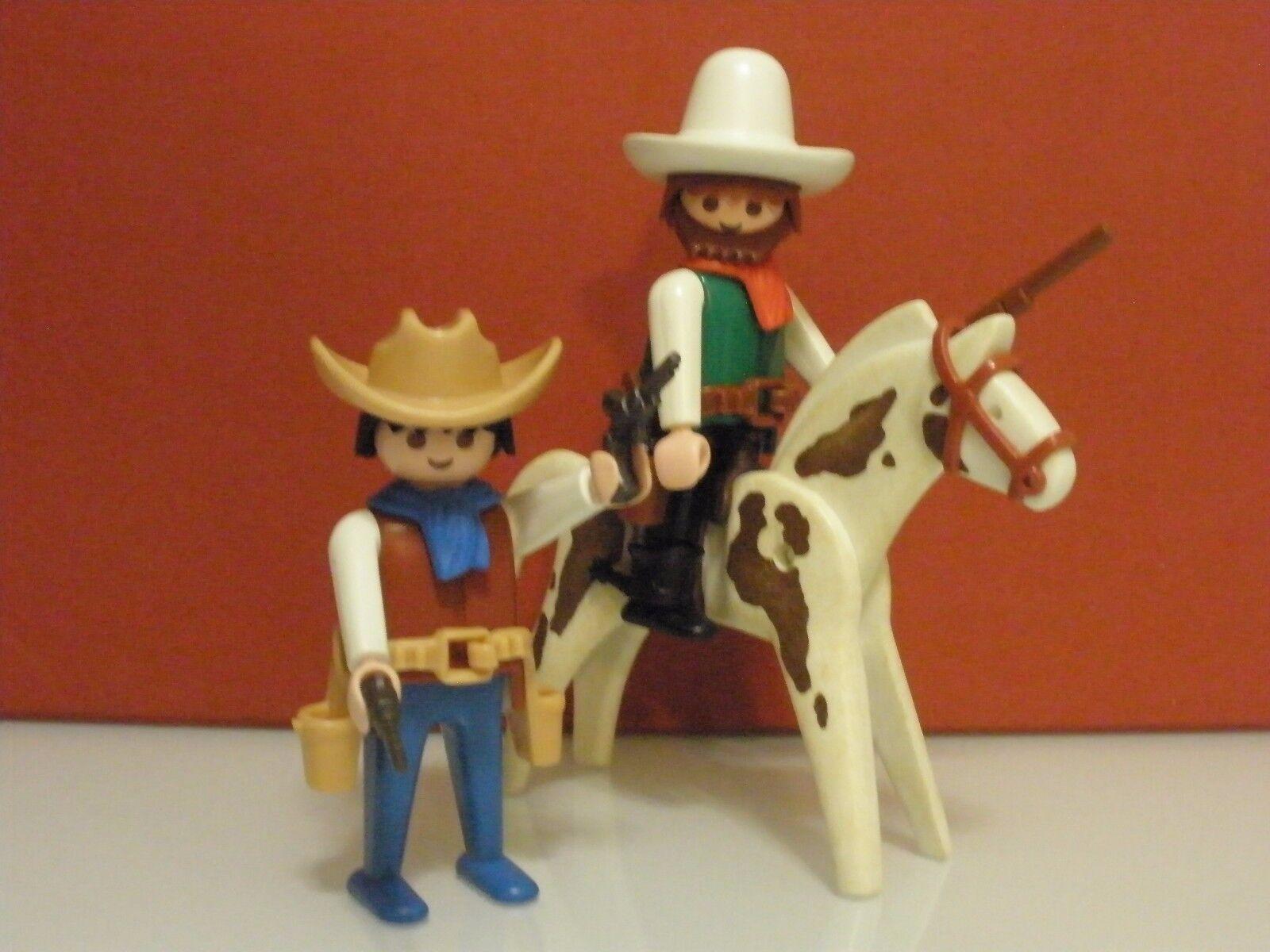 Playmobil Western Cowboys ayudantes del del del Sheriff del Oeste año 1986 ref 3304 2 39d607