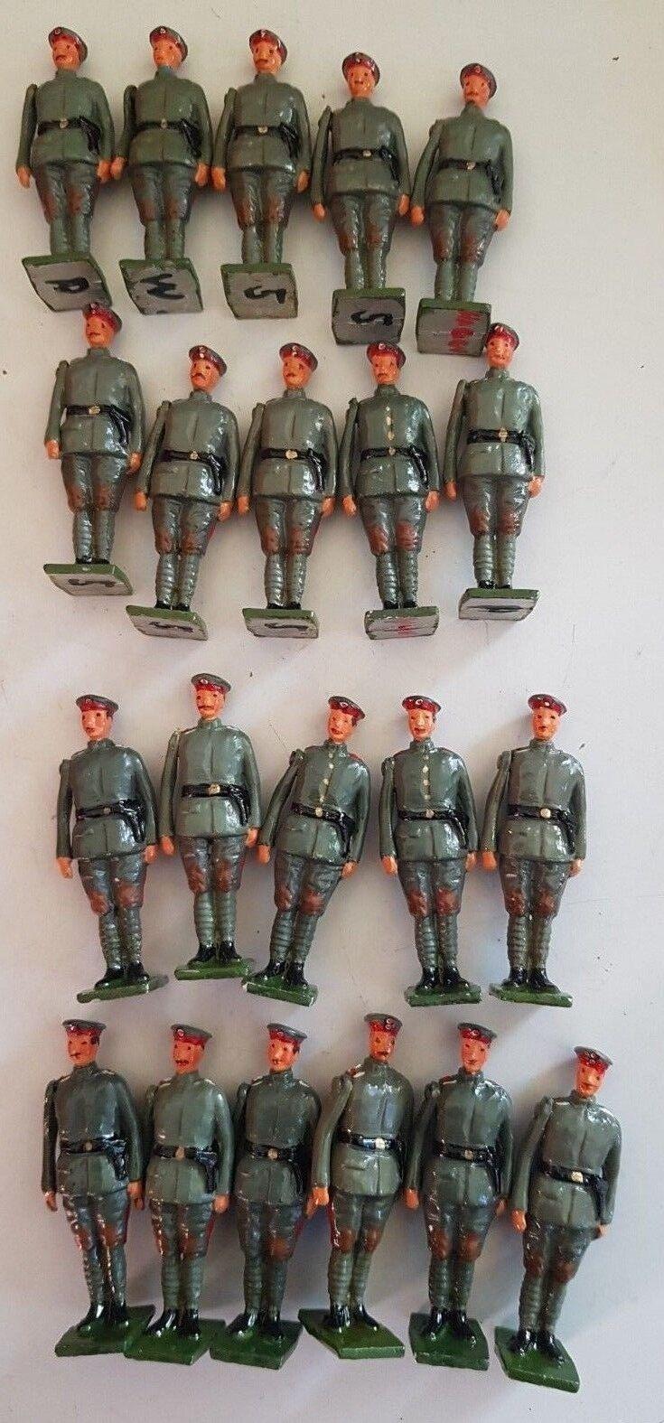 German WW1 German Tank Crew  White Metal Figures  21 Figures