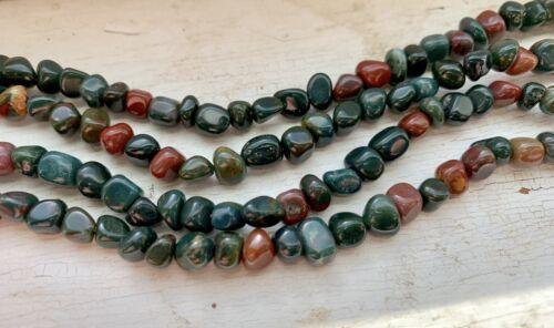 "Approx 82 Beads 15.5/"" Strand Jasper Gemstone Pebbles 4-5mm"