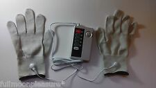 ELECTROSEX ESTIM TENS TONING 2 CONDUCTIVE MASSAGE GLOVES AND UNIT SET !UK SELLER