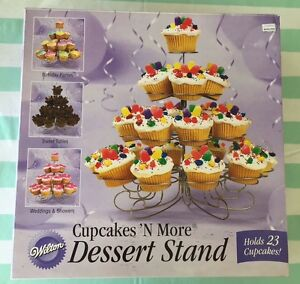 Wilton-3-Tier-Cupcakes-N-More-Stands-Dessert-Tower-Centerpiece-23-Cupcakes