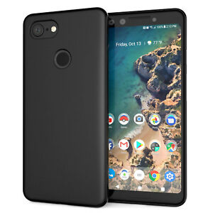 best sneakers d30d7 aebb6 Details about Google Pixel 3 / 3 XL Case Silicone Ultra Soft Gel Phone  Cover - Matte Black