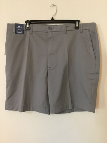 NWT Men/'s Roundtree /& Yorke Big /& Tall Gray Shorts Size 46 Flat Front