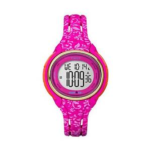 Timex Ironman Sleek 50 Lap Ladies Pink Floral Watch Tw5m03000