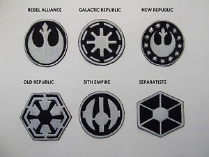 Star wars large sew on patches rebel alliance galactic - Republic star wars logo ...