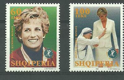 Albania Albanien 1998 Princess Diana Mother Teresa Minr 2660-2661 Mnh** Keep You Fit All The Time Albania Stamps