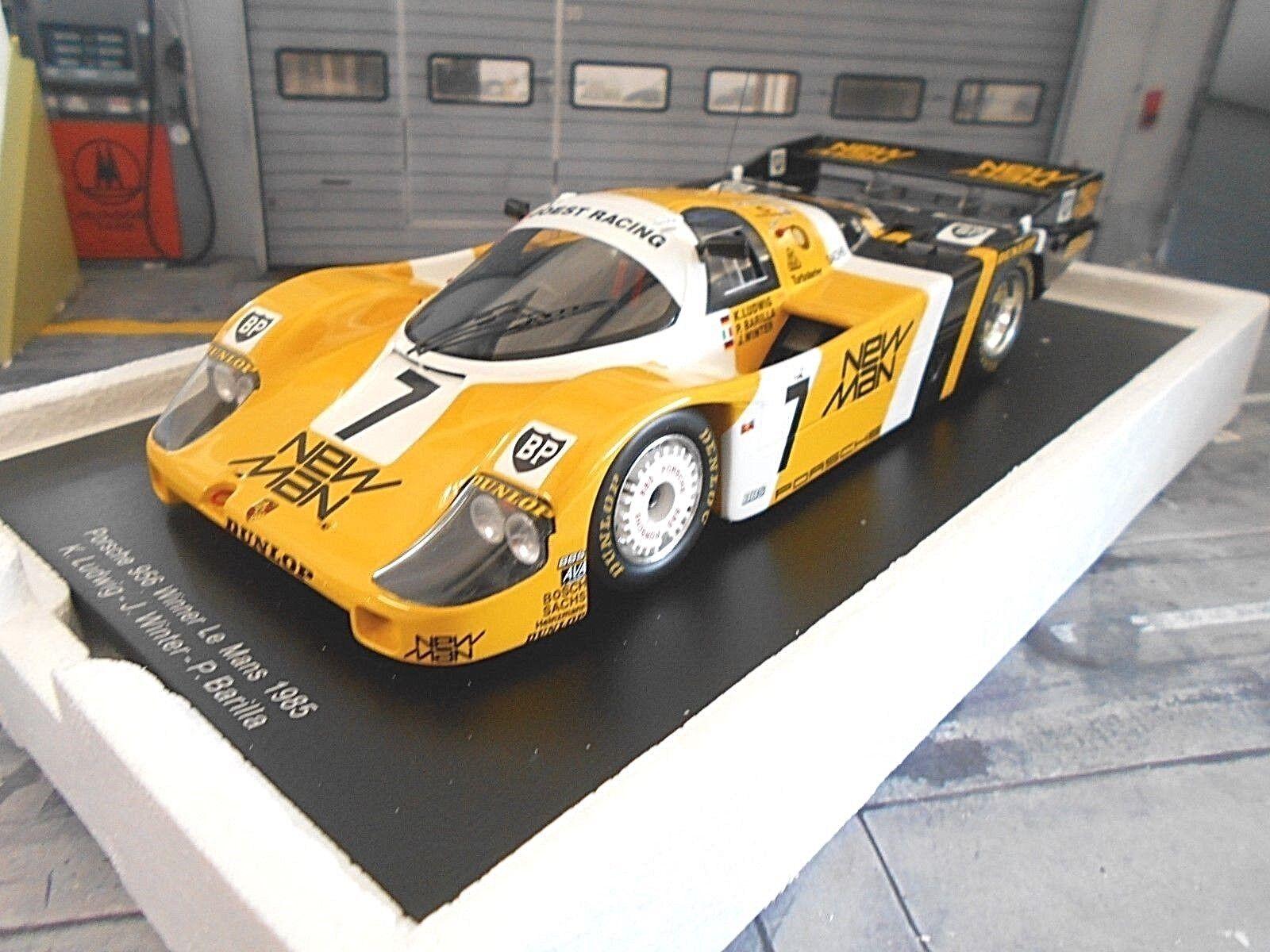 Tienda 2018 Porsche 956l 956 Joest New New New Man  7 Ludwig invierno le mans winner 1985 Spark 1 18  garantía de crédito