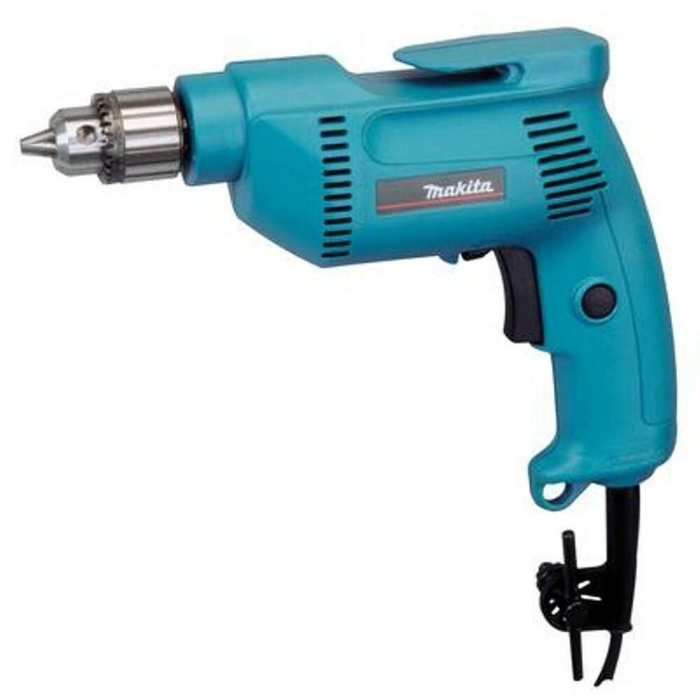 Makita Drill 3 8 in 4.9 Amp Variable Speed Reversing Switch Large Trigger Corded