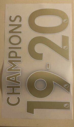 FLOCAGE Liverpool Champions 19-20 Nameset Gold