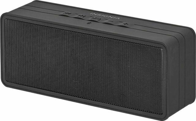 Insignia NS-SPBTBRICK-C Portable Bluetooth Speaker with Powerbank - Caviar