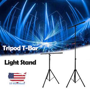 9-Ft-DJ-Lighting-Tripod-Portable-Stage-T-Bar-Light-Stand-w-Cross-Bar-FS-adapter