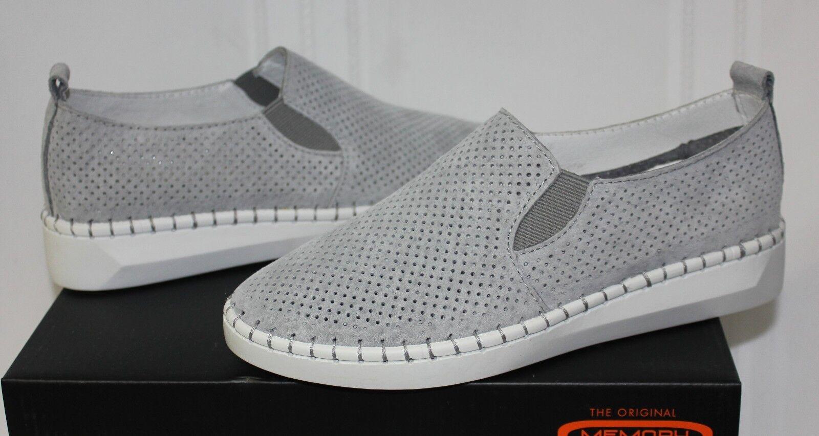 Bernie Mev TW98 grey perfed suede slip on shoe New with box