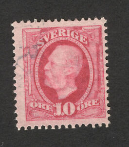 SWEDEN-USED-STAMP-10-ore-1891-1910