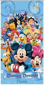 Disney All Cast Disney Dreams Licensed Beach Towel