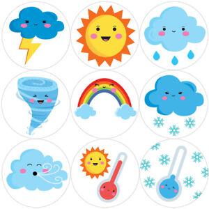 144-CUTE-Meteo-30-mm-Reward-Adesivi-per-la-scuola-insegnanti-genitori-Nursery