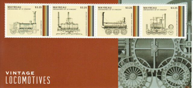[SOLD] Mayreau Grenadines St Vincent 2013 MNH Vintage Locomotives 4v S