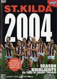 NEW-AFL-St-Kilda-Season-Highlights-2004-Wizard-Cup-Premiers-DVD-FREE-POST