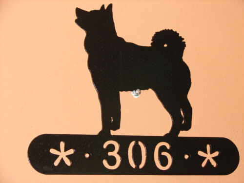 ELKHOUND ADDRESS SIGN DOG MEMORIAL HOME DECOR PET K9